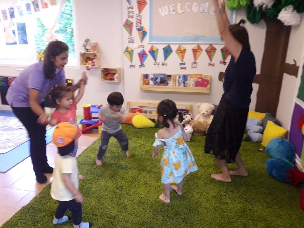 Thai culture class...loving the Thai games!