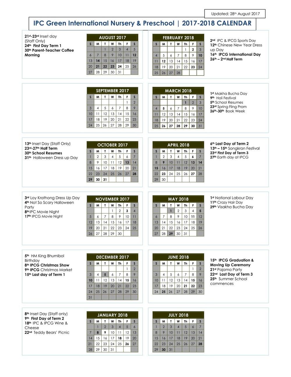 IPC Green 2017-2018 Calendarjpg