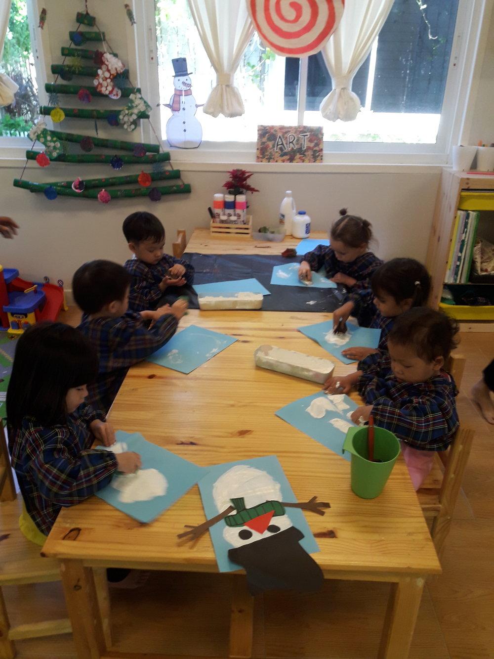 Our snowman art activitiy!