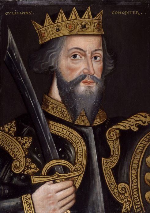 William the Conqueror. Descendant of the first Viking Rollo. -