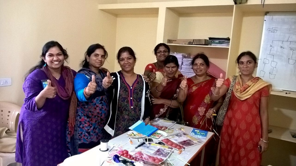 Our IGA teachers after their initial training in jewelry-making