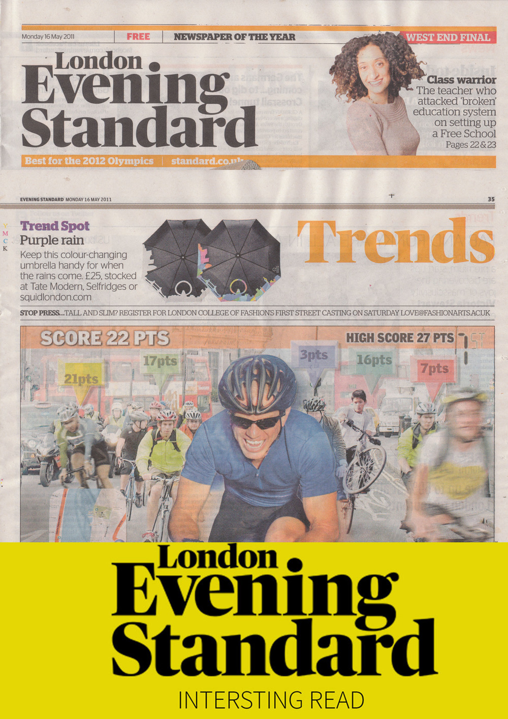 May 2011 Evening Standard