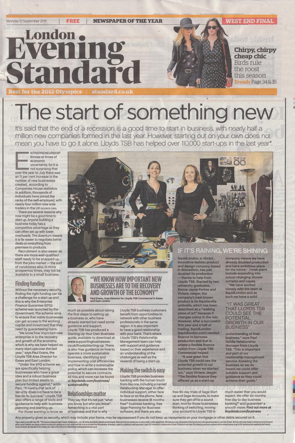 September 2011 Evening Standard