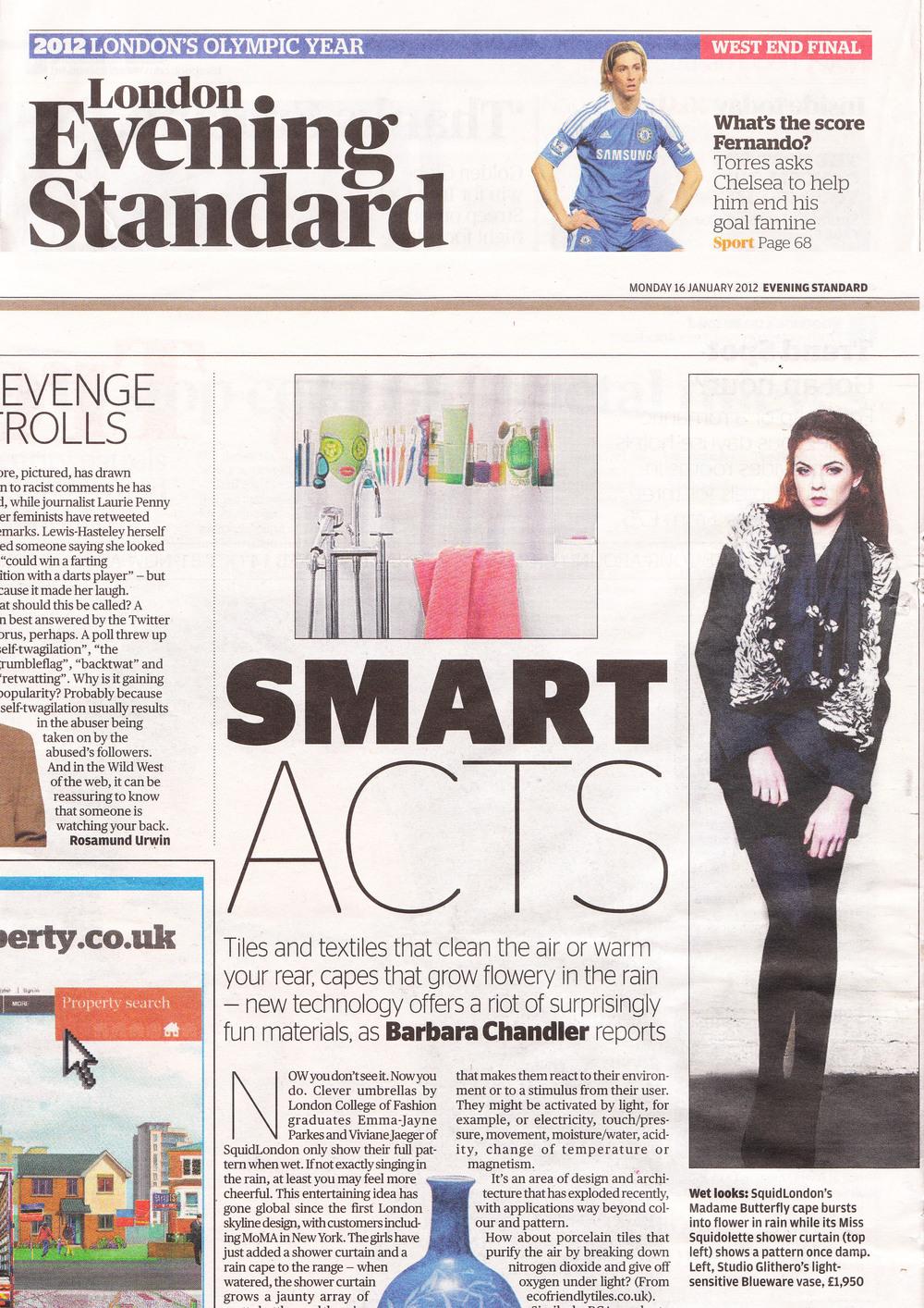January 2012 Evening Standard