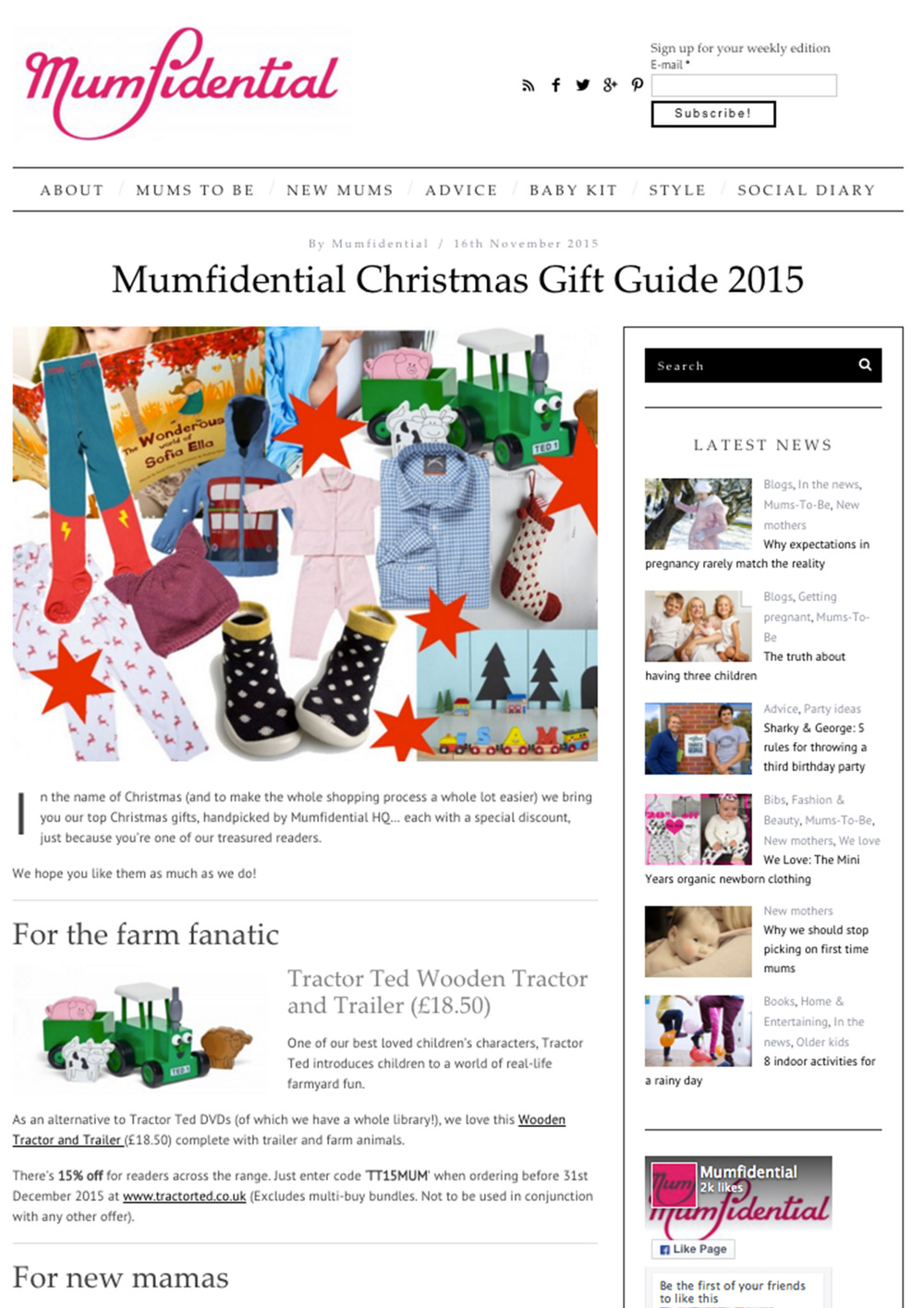 November 2015 Mumfidential