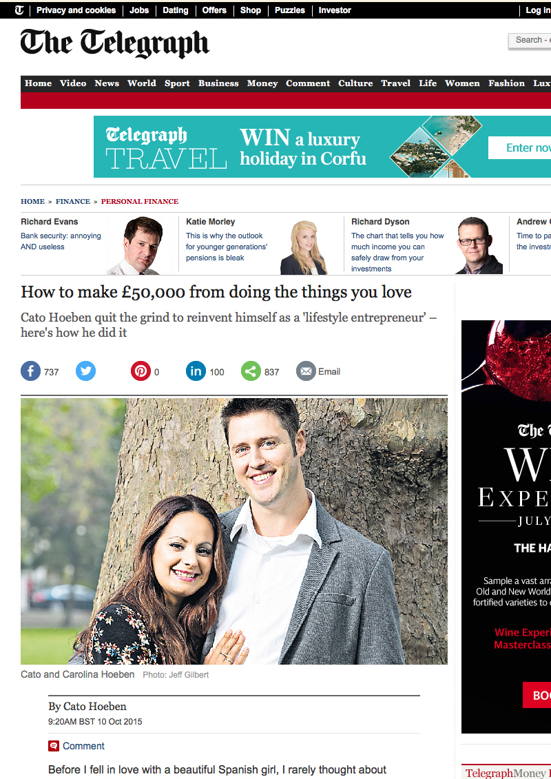 October 2015 Telegraph