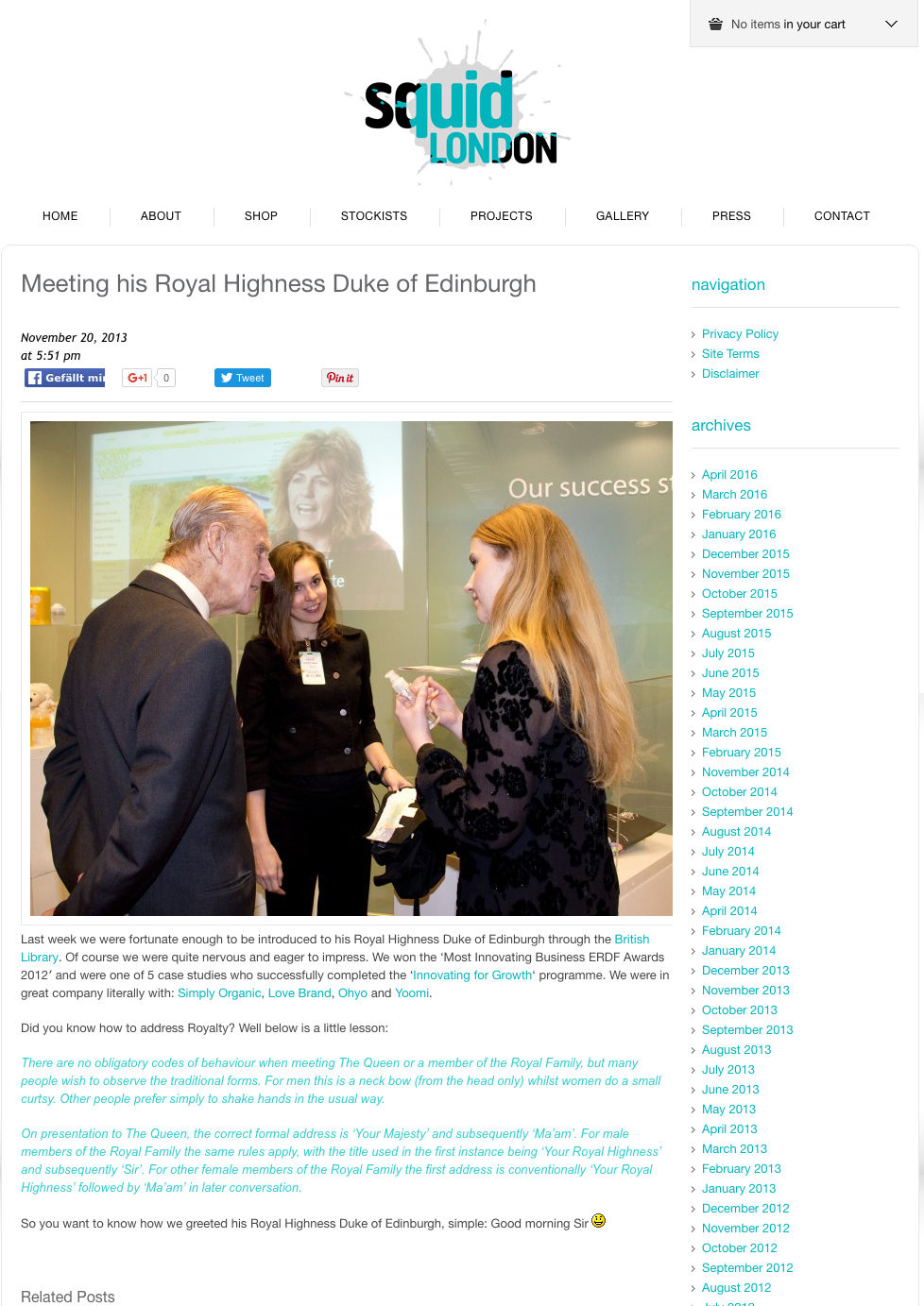 November 2013 Meeting his Royal Highness Duke of Edinburgh