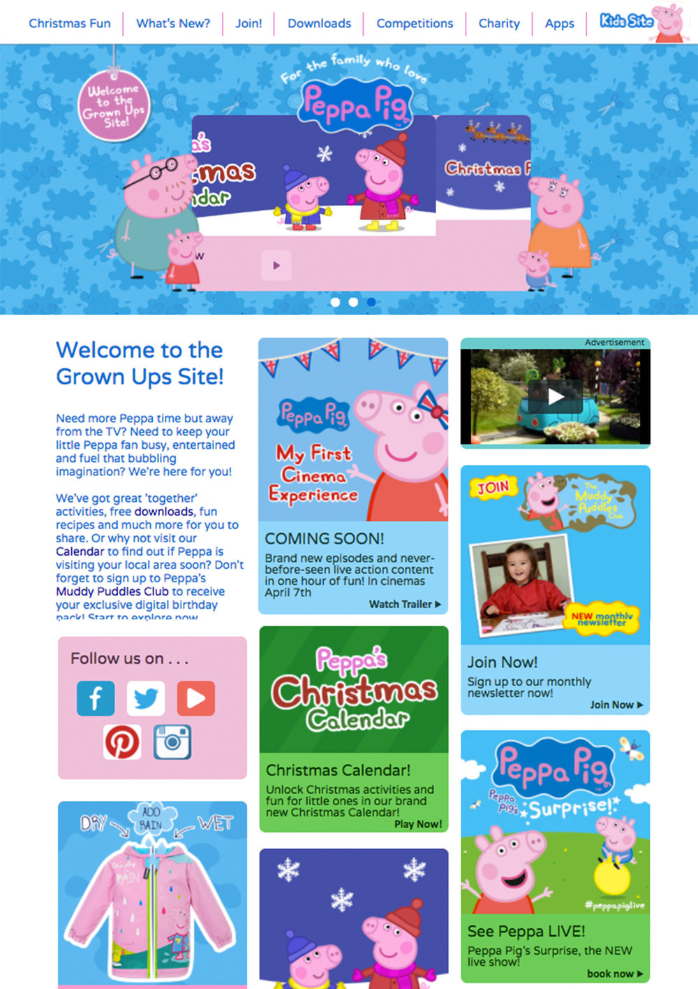 December 2016 Peppa Pig Home Page