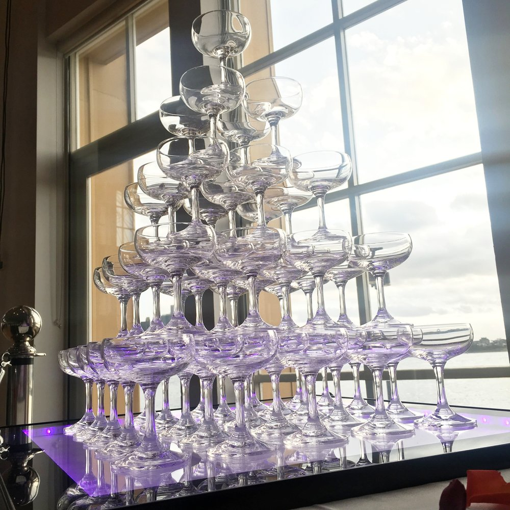 Champagne Tower - Best Wedding Decoration