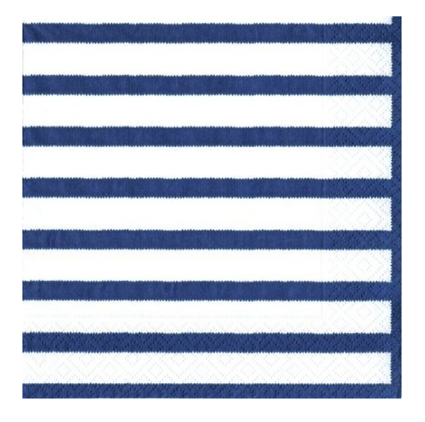 """4th of July Party Supplies Paper Napkins Cocktail Size Bretagne Blue 40 Count 5"""" x 5"""" Folded"""
