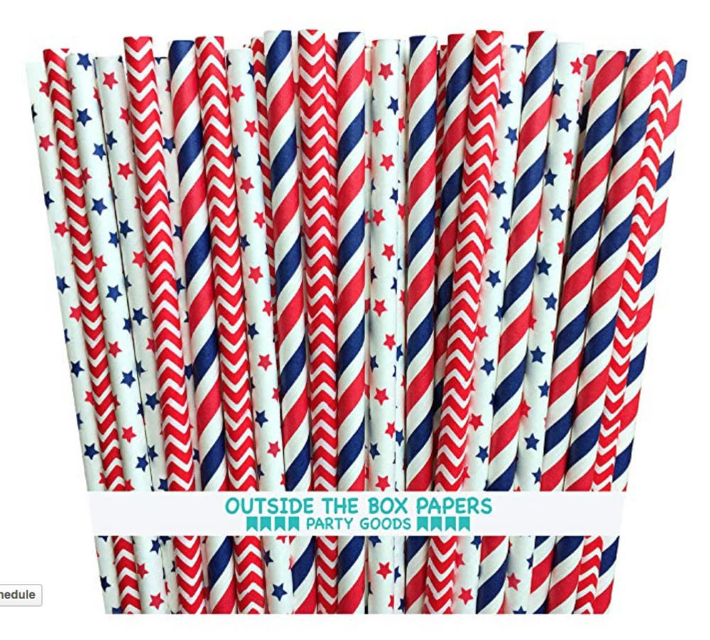 Fourth of July Straws