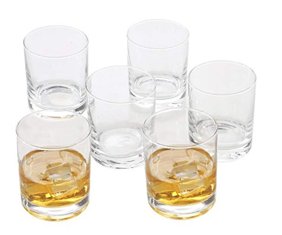 Copy of Rock Style Old Fashioned Whiskey Glasses 11 OZ,100% Short Glasses For Camping/Party,Set of 6 (6-pack)