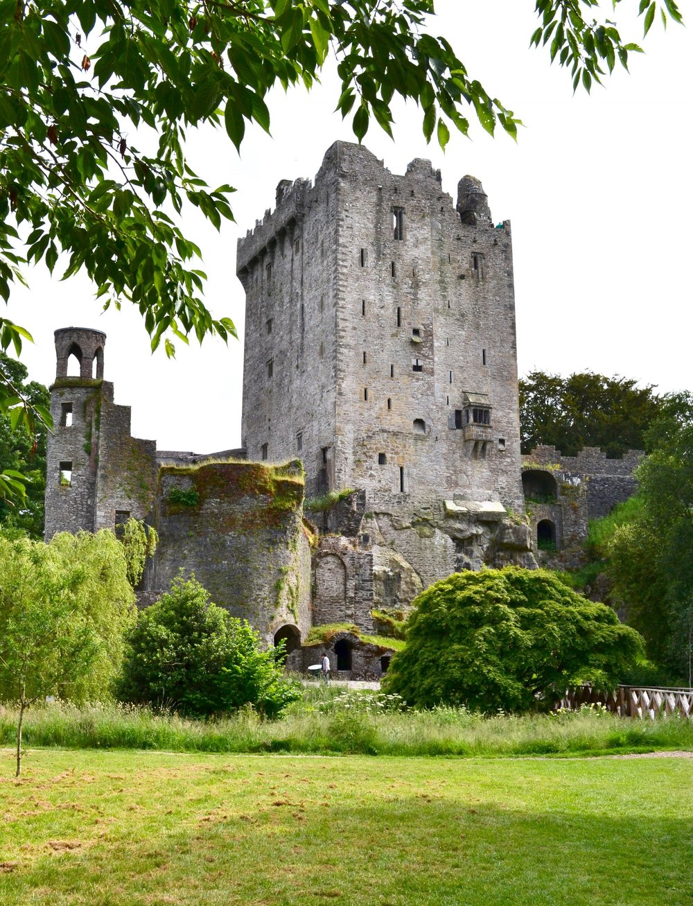 blarney castle - A beautiful historic castle nestled in the countryside of Ireland surrounded by gardens, cattle and sheep. It's best known for laying upside down to kiss the famous stone to get the gift of