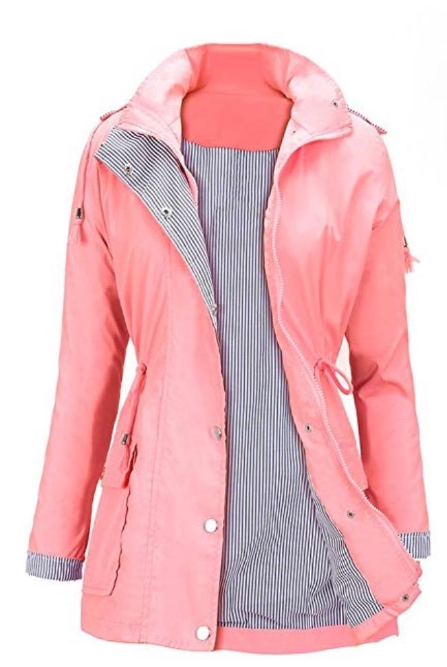 Waterproof Lightweight Rain Jacket Active Outdoor Hooded Women's Trench Coats
