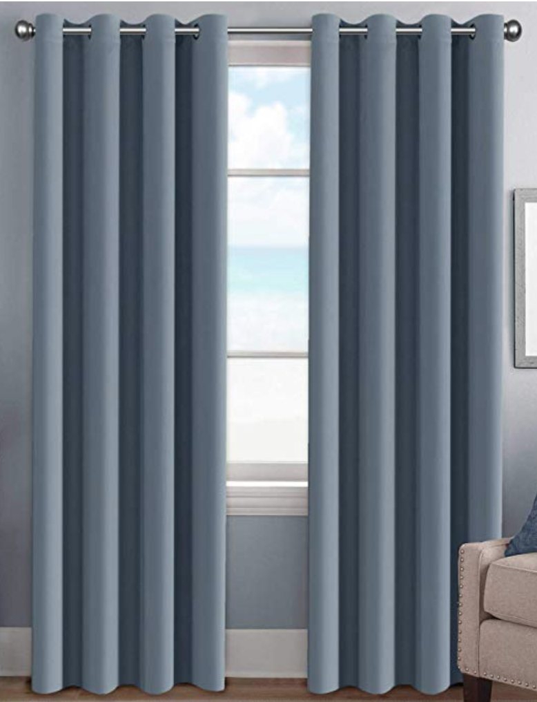 Copy of Stone Blue Curtains