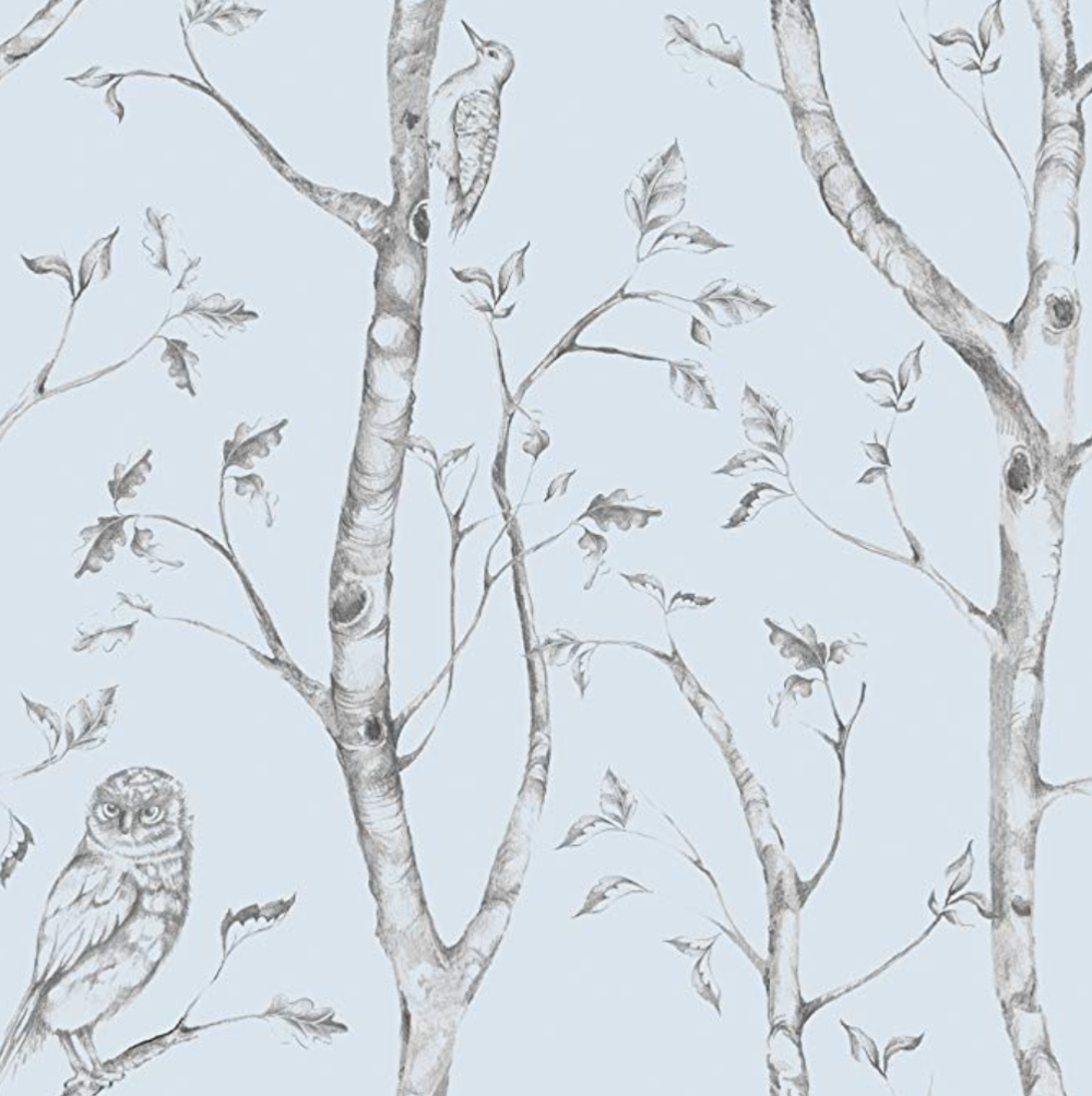 Copy of  Blue Woods Peel and Stick Wallpaper