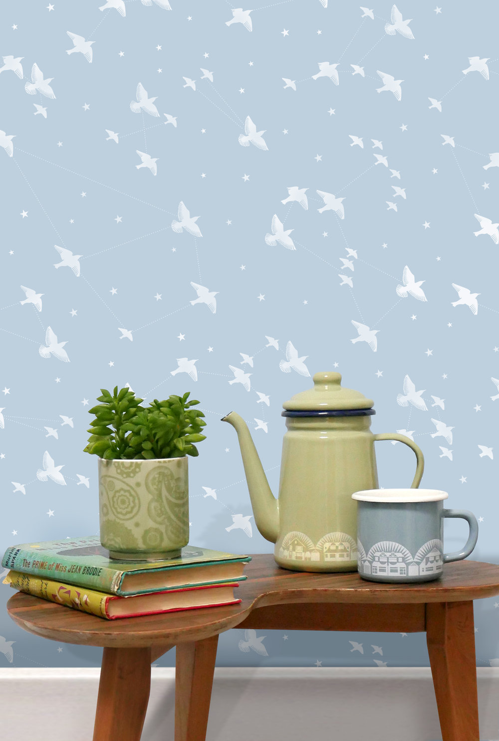 Star-ling Wallpaper - Powder Blue