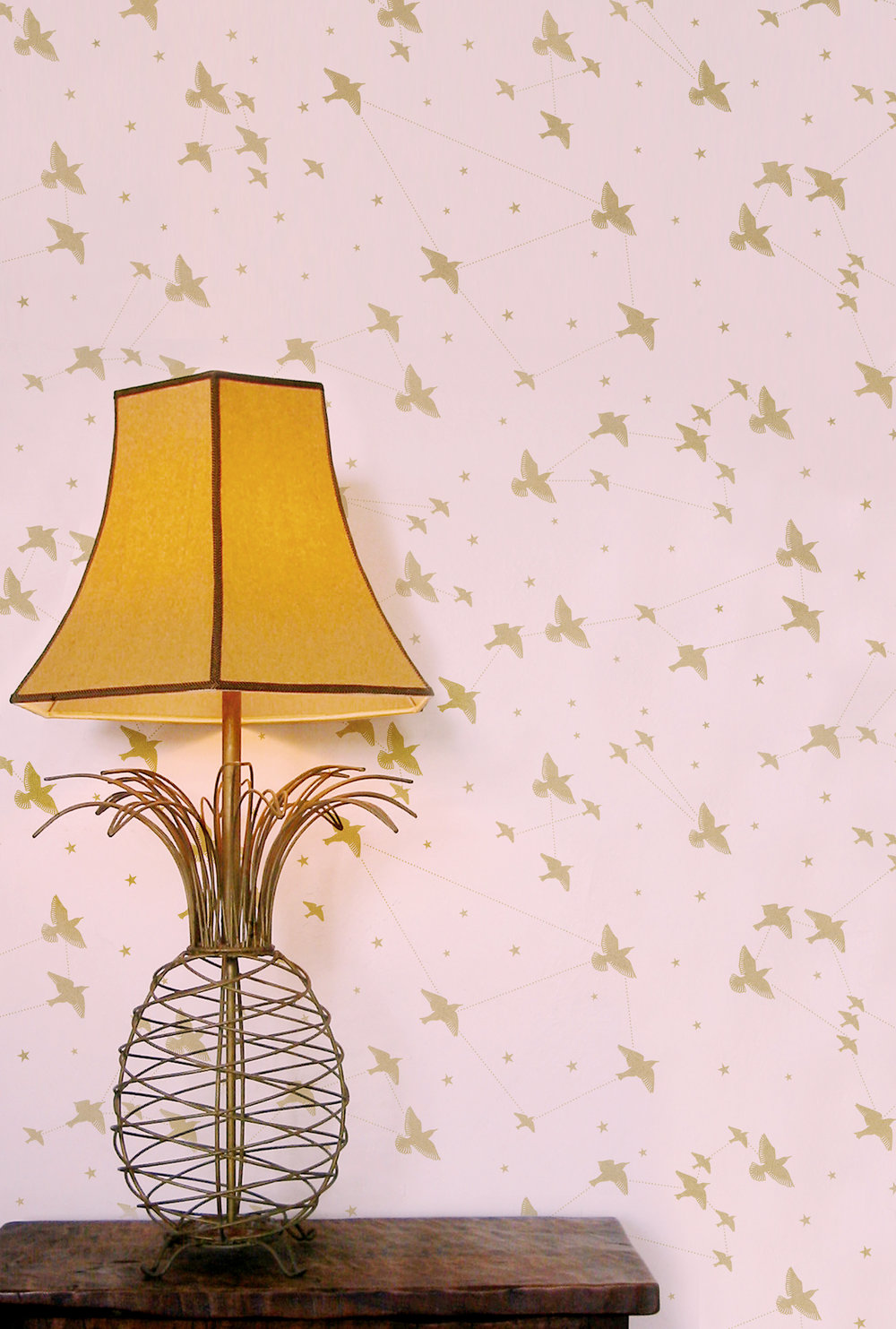 Star-ling Wallpaper - Rose-Marais & Gold