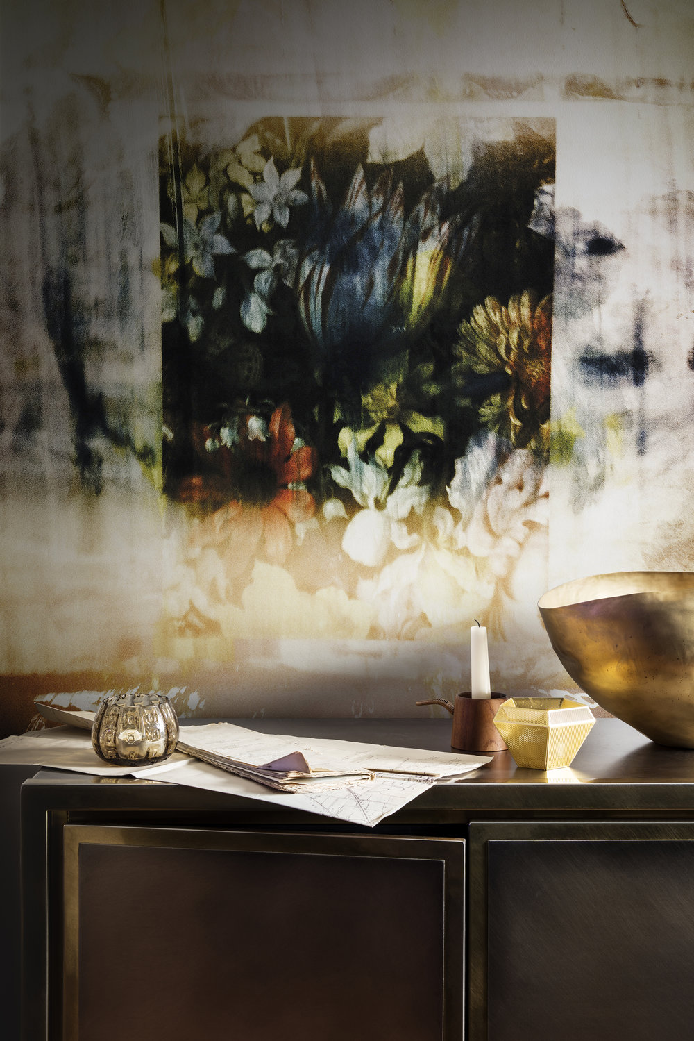 Captured Florals Mural byEmmeline Kellett from Abstraction Edit