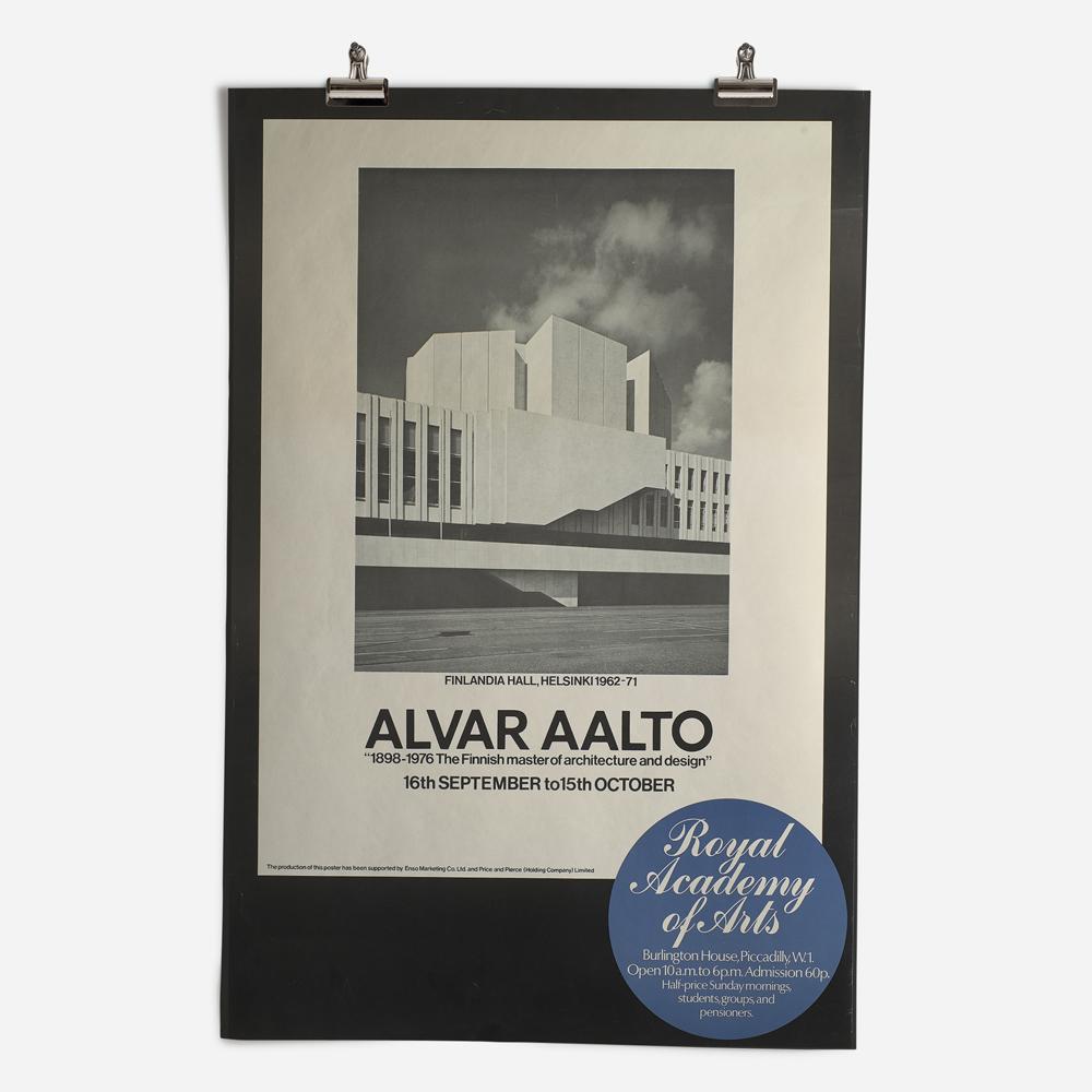 RA Alvar Aalto Exhibition 1978