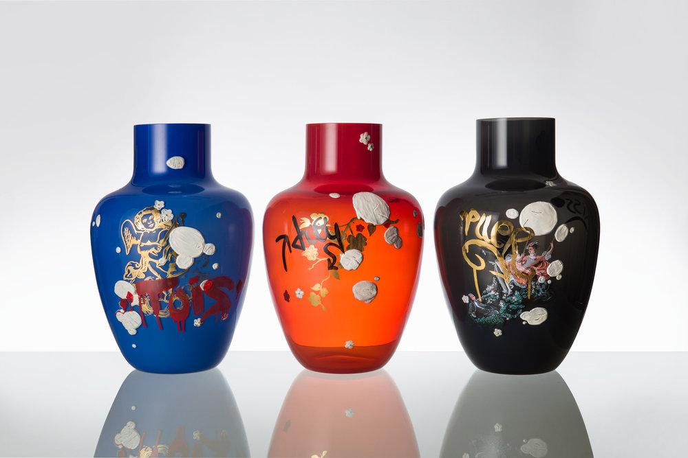 Dominika Petrtýlová, Vandal Vases at London Design Fair, photo Anna Pleslová, Colours of Transparency.jpg
