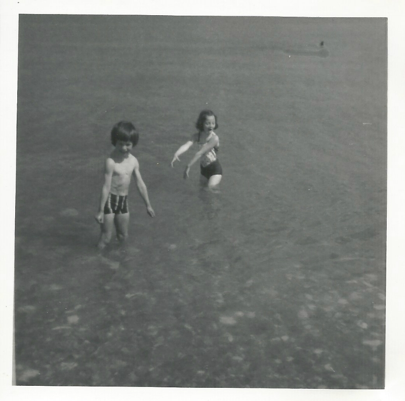 Me and Simon at Ballywalter Beach - mid 1970s.