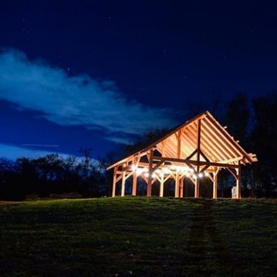 Riverside Timber Frame Pavilion at Night.jpg