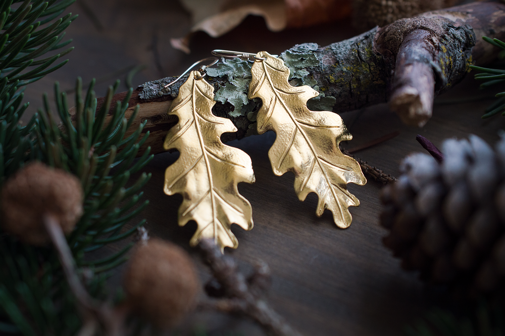 Large Oak Earrings Autumnal Shoot Small.png