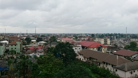 View from Hotel Presidential across Port Harcourt