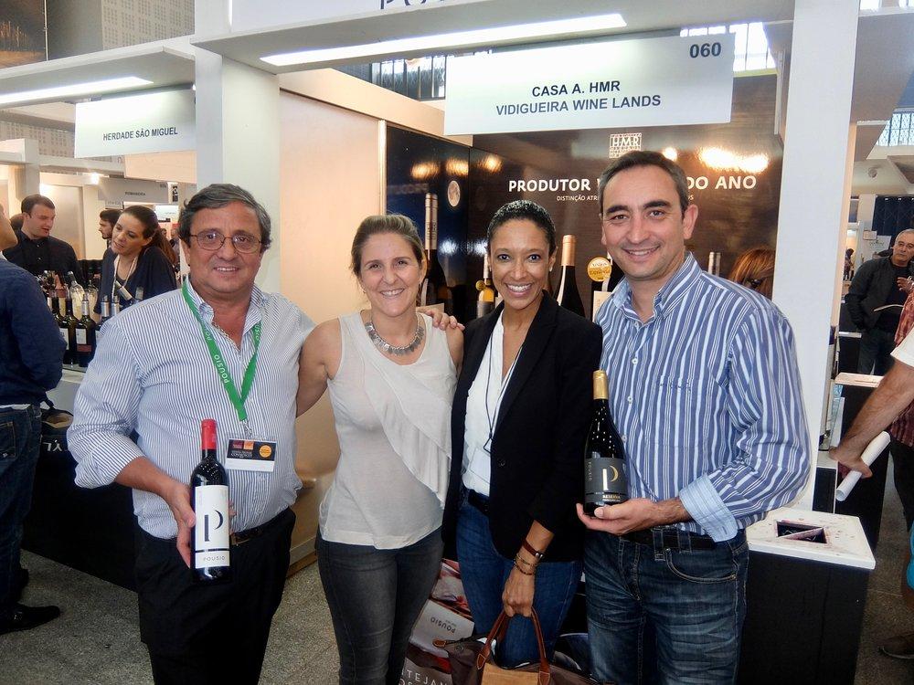 managers joåo carmona, mariana carmona & winemaker nuno elias of herdade do monte da ribeira