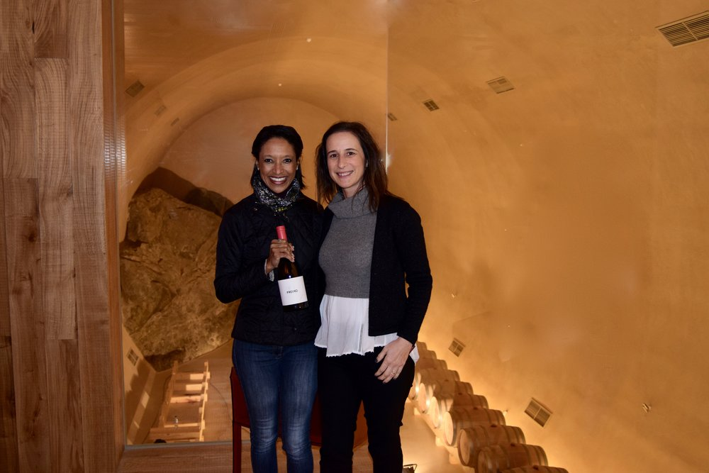 Sheree m. Mitchell 40 meters (131 ft) underground with herdade de freixo's marketing director carolina tome