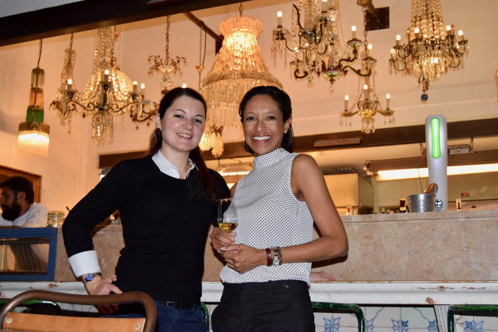 Sheree m. Mitchell with andrea smith, sommelier for the insolito restaurante