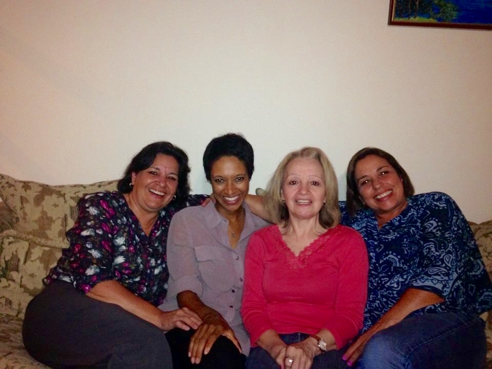 Program director sheree mitchell (center left) with her costa rican homestay family