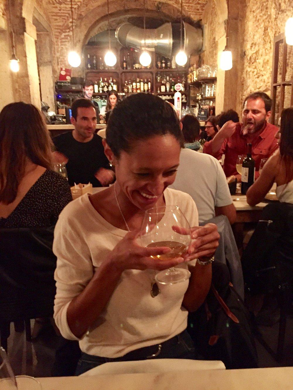 sheree mitchell en restaurante vicente en lisboa