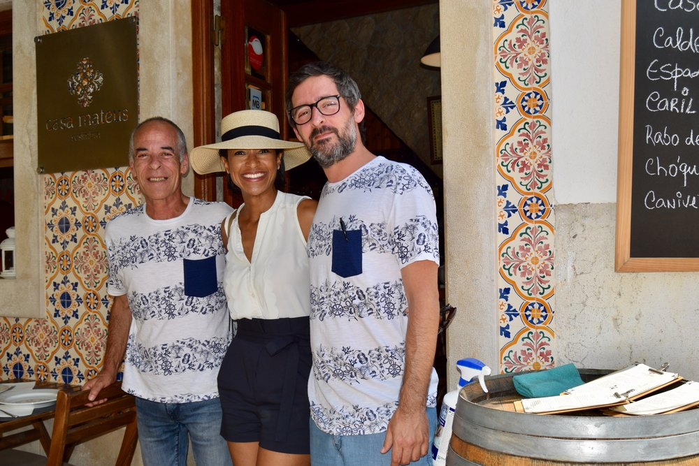Sheree m. mitchell with pedro mateus and father of casa mateus in sesimbra, portugal