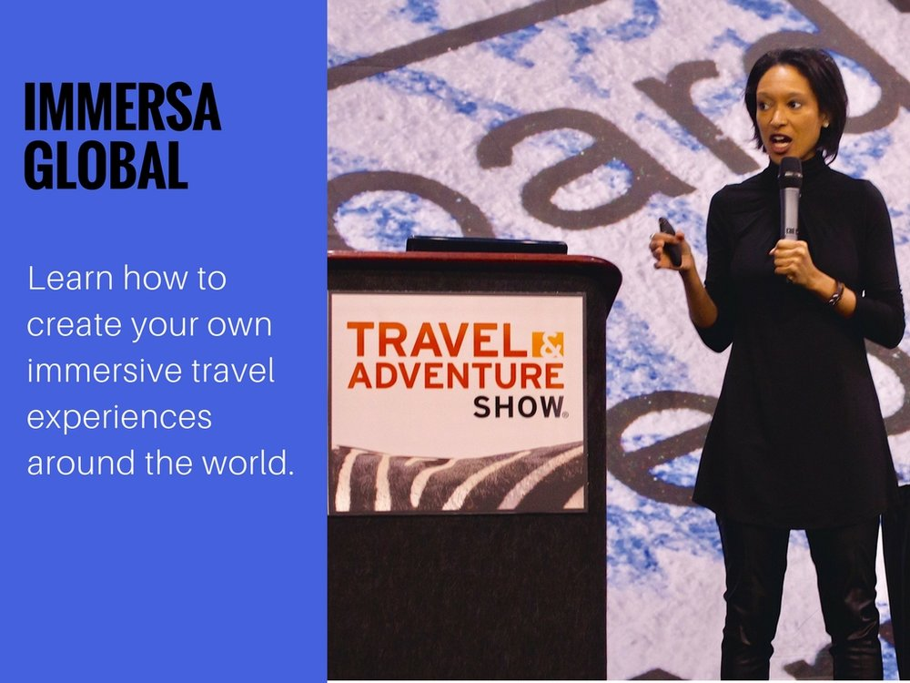 learn from the experts. immersa global's sheree m. mitchell  speaking at  the 2017 philadelphia travel & adventure show