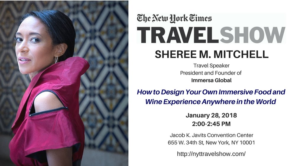 sheree mitchell and the 2018 new york times travel show