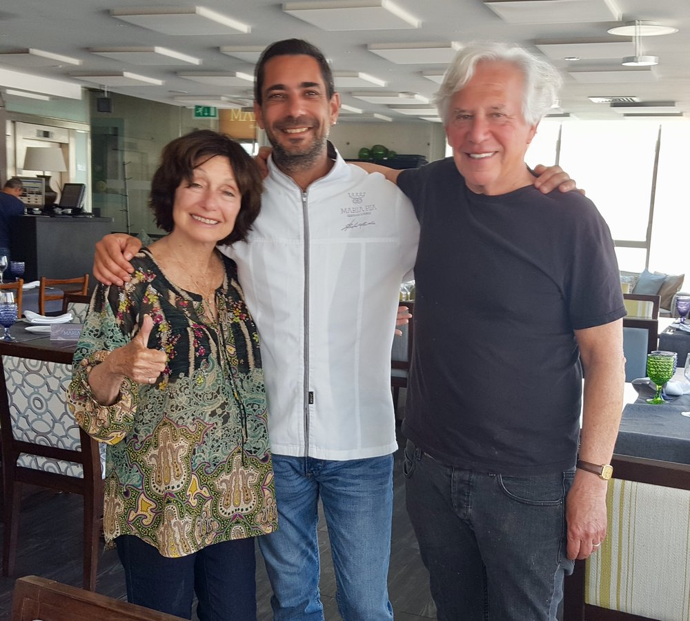 John and Sharon with Chef Pedro Mendes