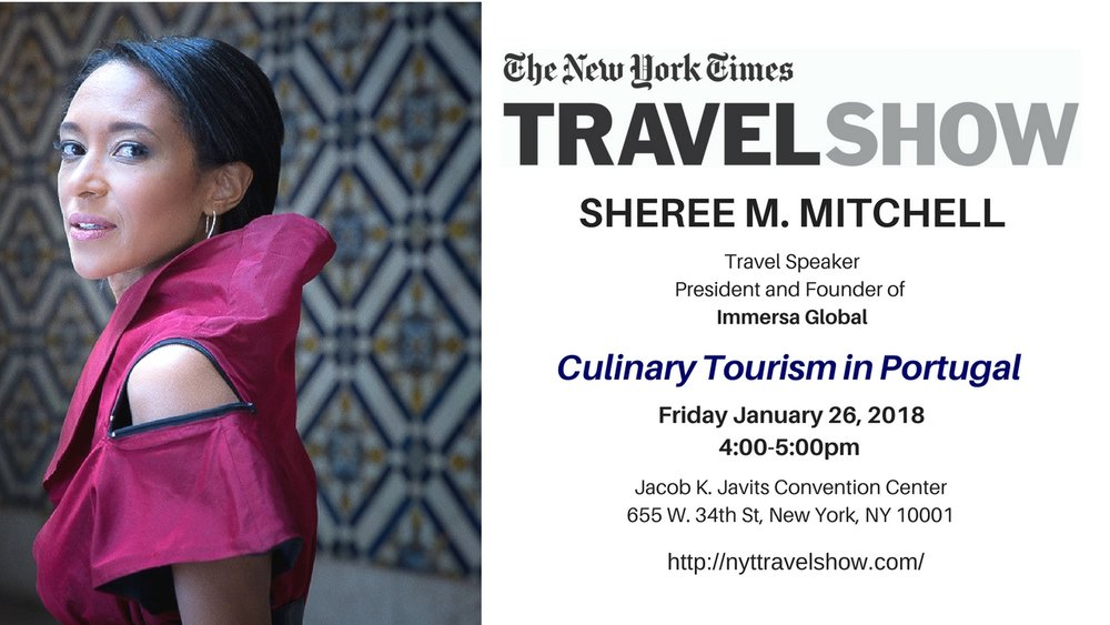 "New York Times Travel Show 2018 ""Culinary Tourism in Portugal"""