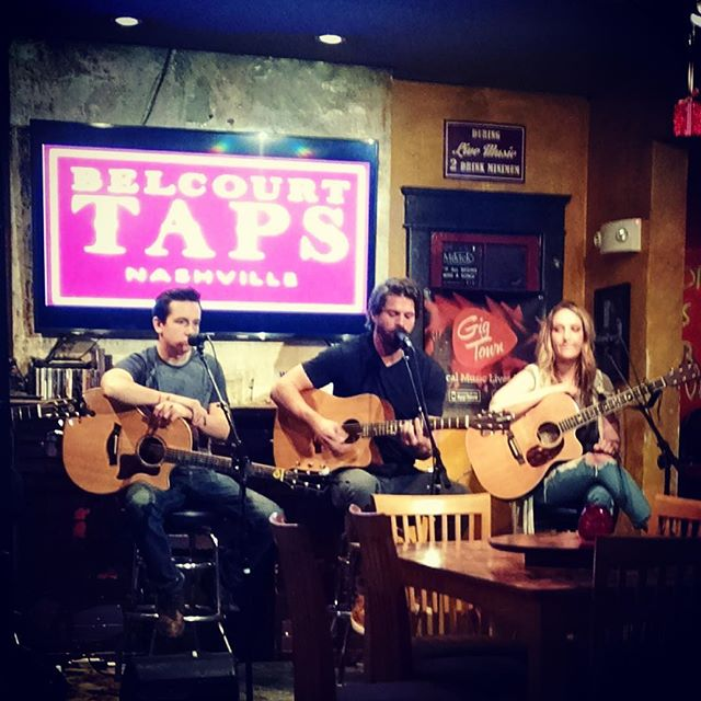 Lot of fun playing @belcourttaps last night with @kate__cameron @jackfiskio @haleychicmusic. Excited to play some more rounds there. #downtown #hillsborovillage #craftbeer #yazoo #jackalope #ipa #singer #songwriter #vibe #nashville #livemusic #acoustic #originalmusic #winter #february