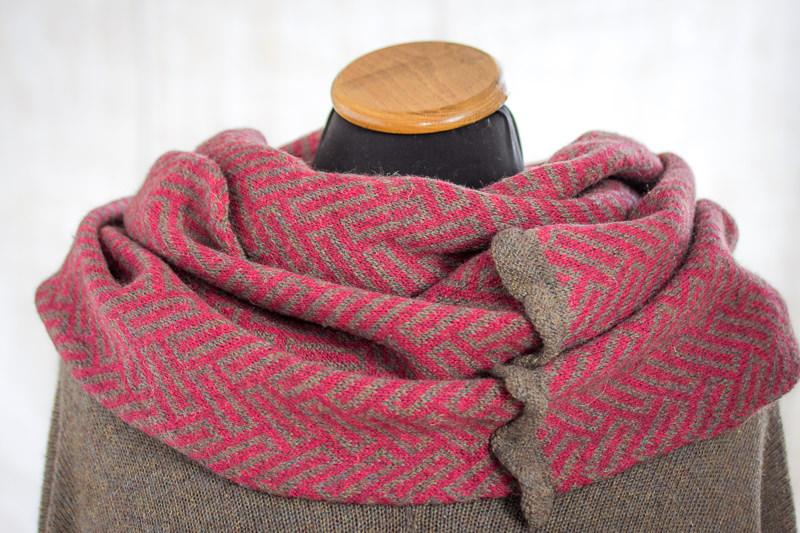Deep Pink Felted Yak Cowl - Designed & made by Fine Fettle Fibres