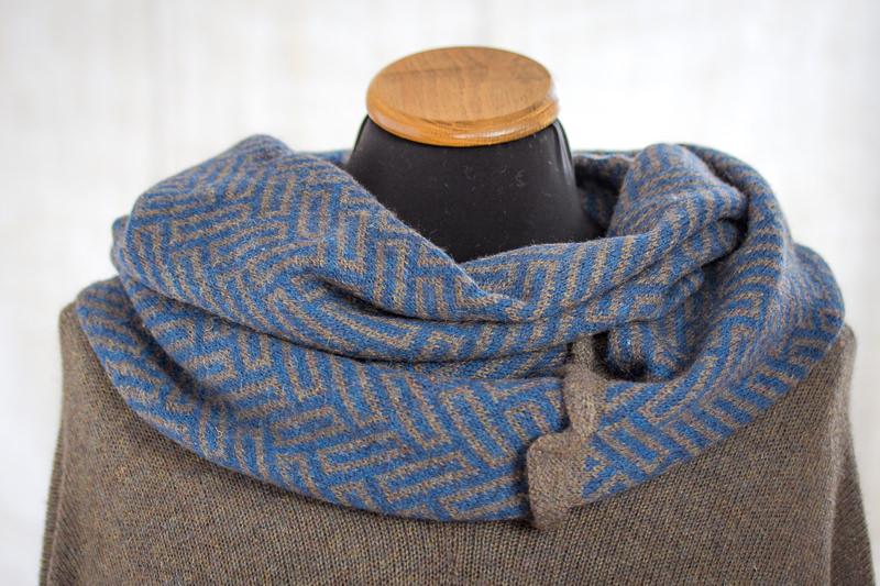 Dark Blue Felted Yak Cowl - Designed & made by Fine Fettle Fibres