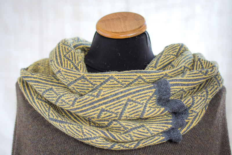 Pale Yellow Felted Yak Cowl - Designed & made by Fine Fettle Fibres
