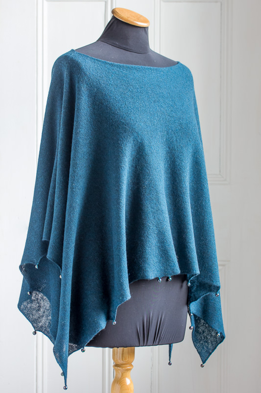 Lightweight Yak Poncho - Designed & made by Fine Fettle Fibres
