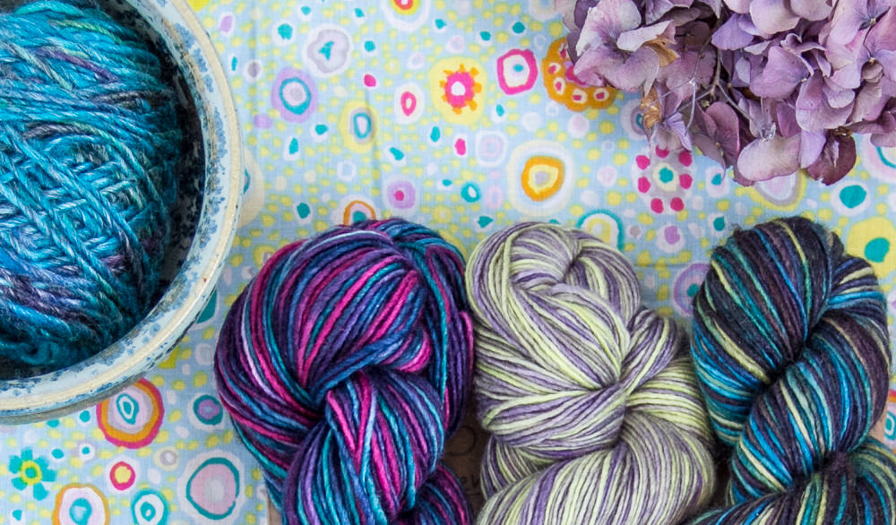 Gorgeous knitting supplies from Fine Fettle Fibres in Northumberland