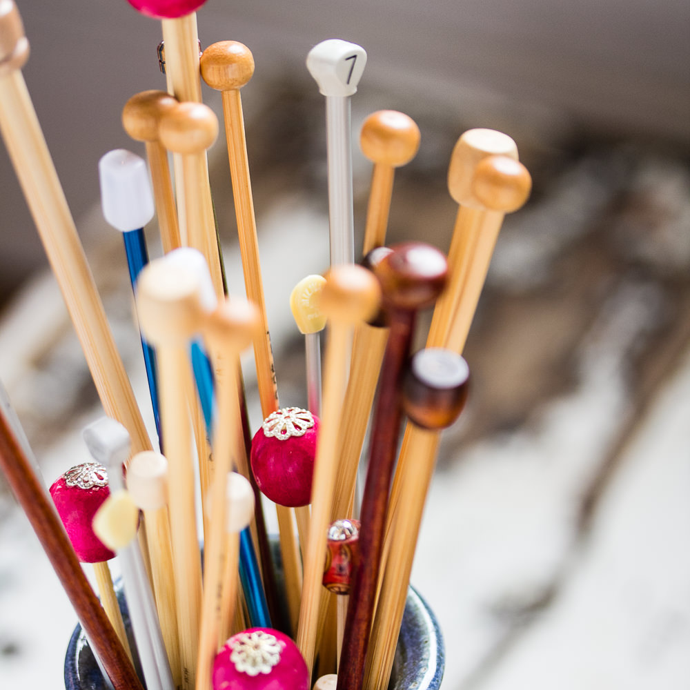 A wide selection of metal, bamboo & Addi knitting needles.