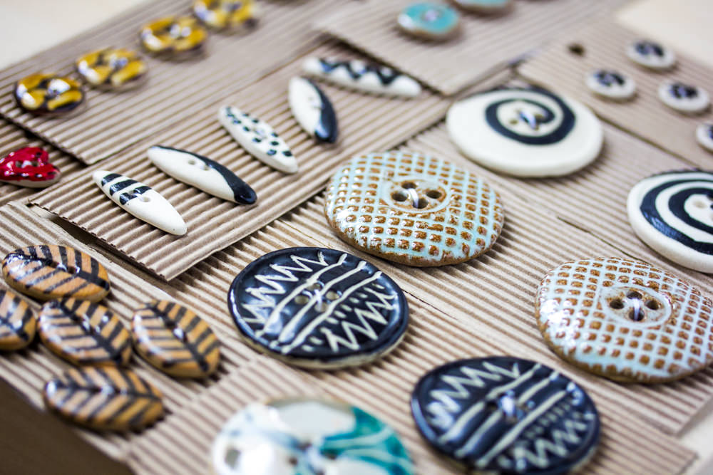 Wide selection of great buttons from Fine Fettle Fibres in Felton, Northumberland.