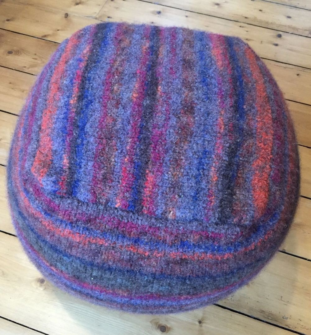 Hand Felted Footstool