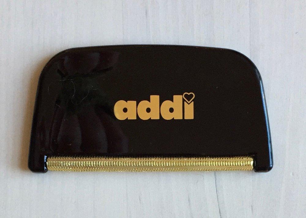 Addi Cashmere Comb  Size approx. 8x4cm. Colour Black