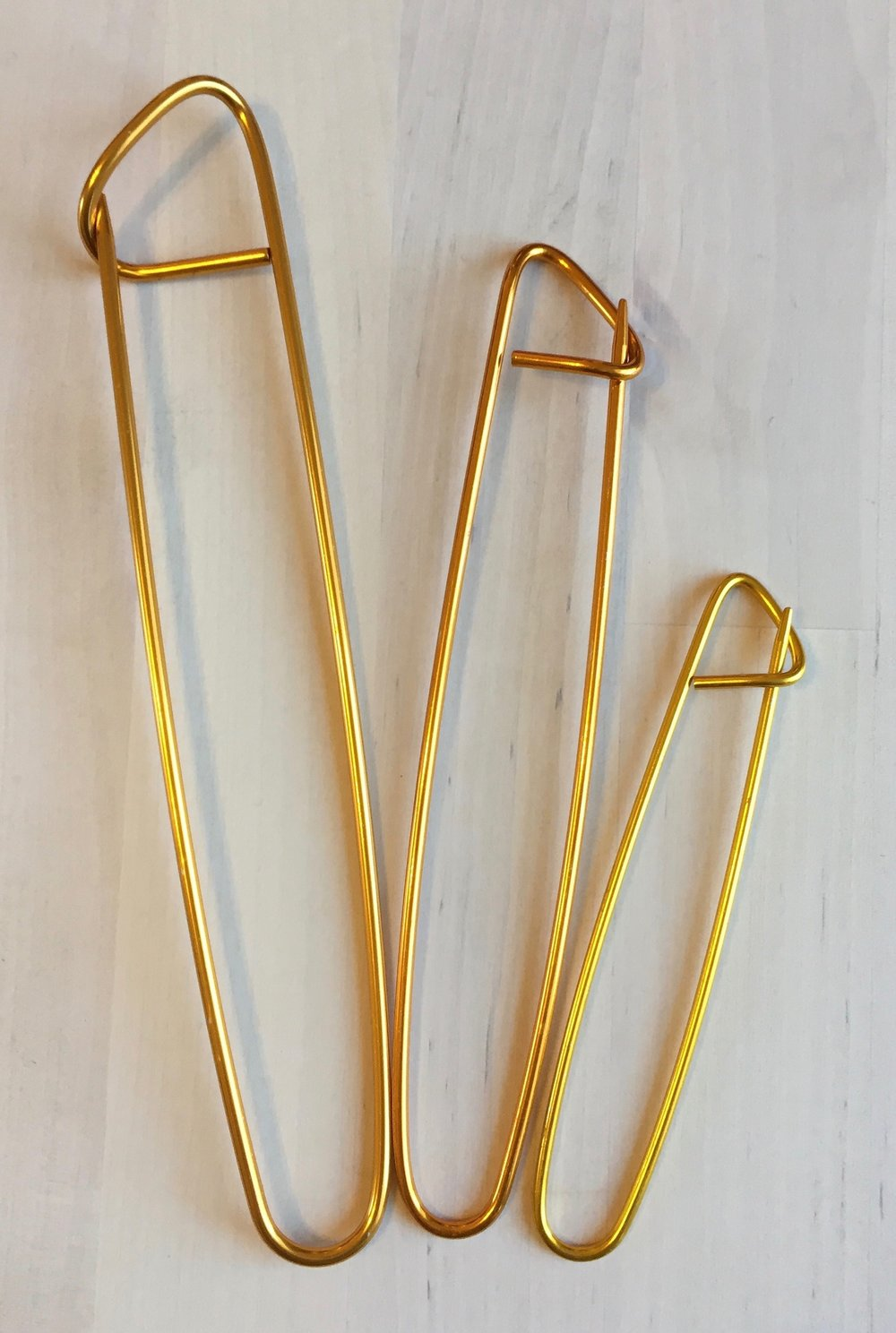 Gold Stitch Holders - pack of 3